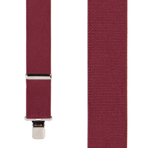 Classic Suspenders in Burgundy - Front View
