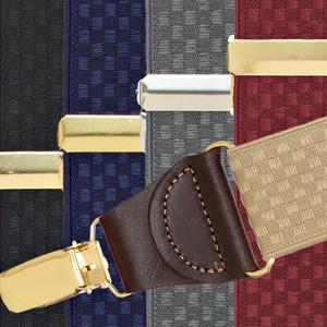 Jacquard Checkered Clip Suspenders
