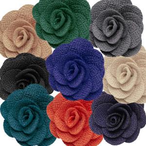Lapel Flowers - Crepe - All Colors Front View