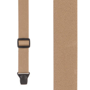 BuzzNot Suspenders in Tan - Front View