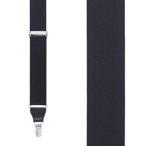 Grosgrain Clip Suspenders - Black Front View