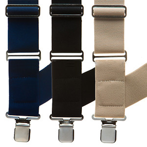 Side Clip Suspenders - Big & Tall - All Colors