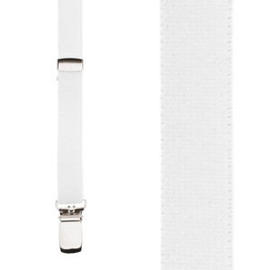 Skinny Suspenders in White - Front View