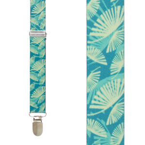 Palm Leaves Suspenders - Front View