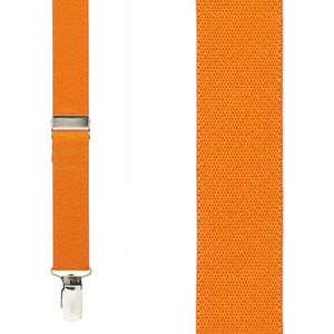 1 Inch Wide Clip X-Back Suspenders in Orange - Front View