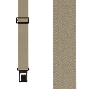 Perry Suspenders - Front View - Tan 1.5-Inch Wide Elastic
