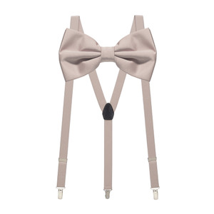 Bow Tie and Suspenders Set in Champagne