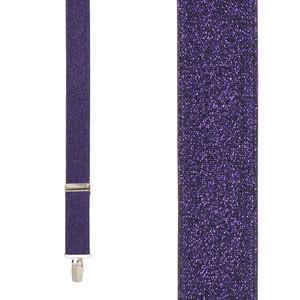 Glitter Suspenders in Purple - Front View