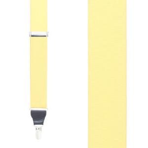 Grosgrain Clip Suspenders - Light Yellow Front View