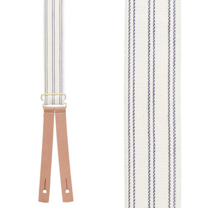 Civil War Suspenders in Blue - Front View