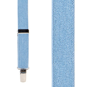 Denim Suspenders - 1 Inch Wide - Front View