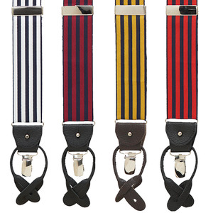 Barathea Equal Stripe Convertible Suspenders