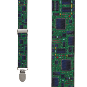 Circuit Board Suspenders - Front View
