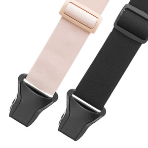 Undergarment Suspenders - Airport Friendly Clip - Pink and Black Front View