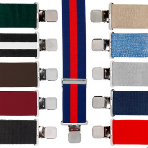 Big & Tall 2-Inch Construction Clip Suspenders - All Colors