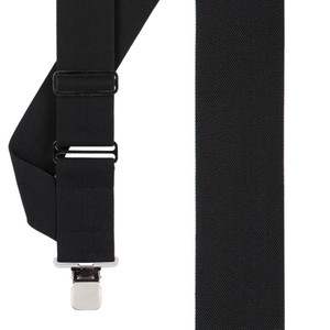 Black Side Clip Suspenders - 2-Inch Wide Construction Clip