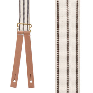 Civil War Suspenders in Brown - Front View