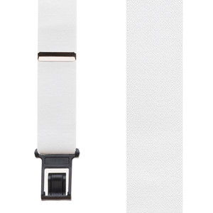 Perry Suspenders - Front View - White 1.5-Inch Wide