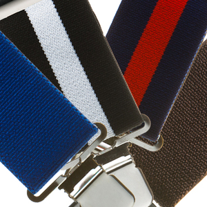 Classic 2-Inch Wide Construction Clip Suspenders - All Colors
