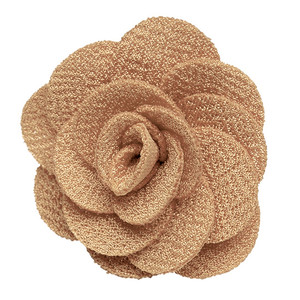 Lapel Flower - TAUPE Crepe - Front View