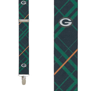 NFL Green Bay Packers Suspenders - Front View