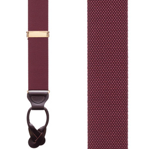Oxford Cloth Button Suspenders Front View