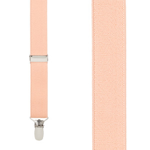 1 Inch Wide Clip Y-Back Suspenders in Peach - Front View