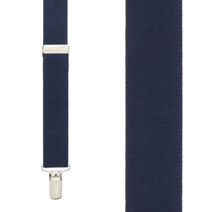 1 Inch Wide Clip X-Back Suspenders in Navy - Front View