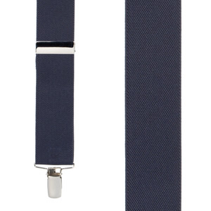 Front View - 1.5 Inch Wide Clip Suspenders - NAVY BLUE