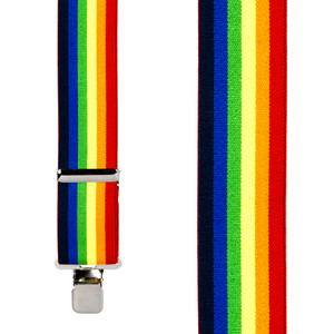 Classic Suspenders - Front View - Rainbow Stripe