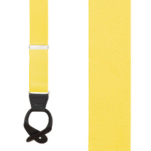 1.5 Inch Wide Button Suspenders in Yellow - Front View