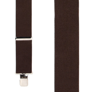 Classic Suspenders - Front View - Brown
