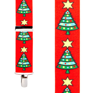 Christmas Tree Suspenders - Front View