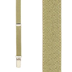 Skinny Suspenders in Tan - Front View