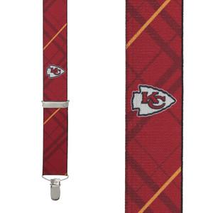 Kansas City Chiefs Suspenders - Front View