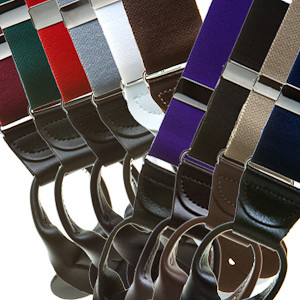 1.5 Inch Wide Button Suspenders - All Colors