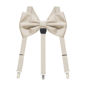 Bow Tie and Suspenders Set in Sand