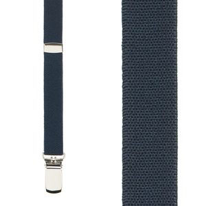 Navy Blue Skinny Suspenders - 1/2 Inch Wide Front View