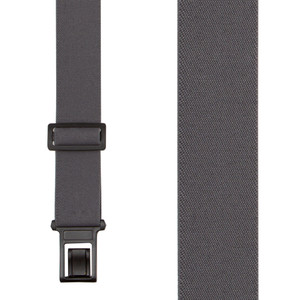 Rear View - Grey Perry Suspenders - 1.5 Inch Wide Belt Clip