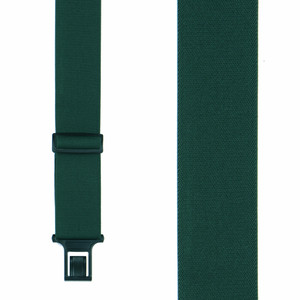 Perry Suspenders in Green - Front View
