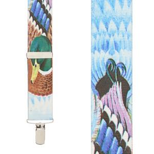 Mallard Duck Suspenders - Front View