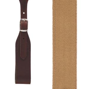 Rugged Comfort Suspenders - Belt Loop DESERT Front View