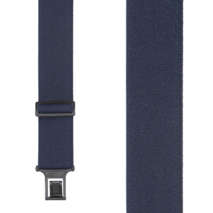 Perry Suspenders - Front View - Navy Blue 2-Inch Elastic