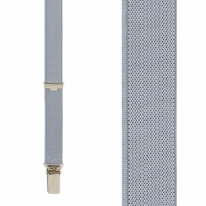 3/4 Inch Wide Thin Suspenders - Matte Grey Front View