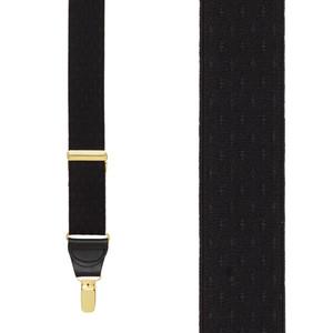 Black Jacquard Suspenders - Front View