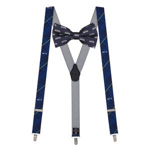 Seattle Seahawks Bow Tie & Suspenders Set - Full View