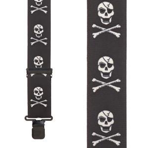 Skull & Crossbones Suspenders - Front View