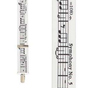 Beethoven's 5th Suspenders - Front View
