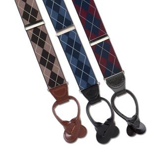 Argyle Button Suspenders - All Colors