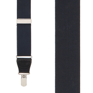 1.25-Inch Elastic Y-Back Suspenders in Black - Front View